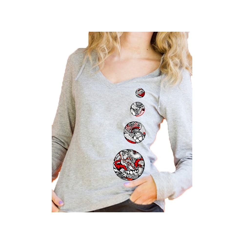 "women Lady's hoodie ""4 circles"""