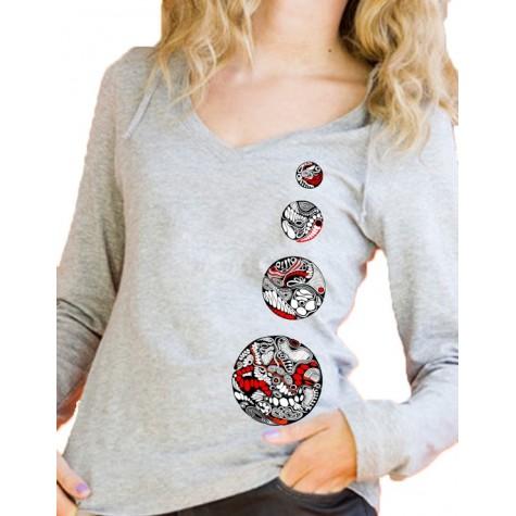 """Lady's hoodie """"4 circles"""""""