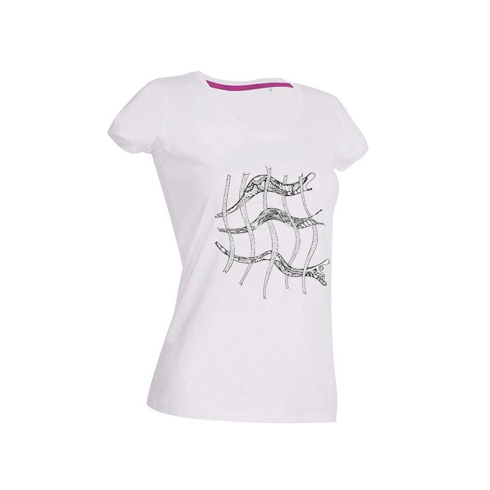 """Damen Damen-Shirt """"Gitter"""" weiss"""