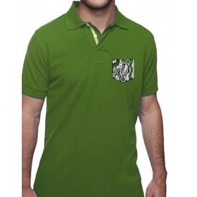 T-Shirts kurzarm Herren Polo mit Brusttaschen- Stick