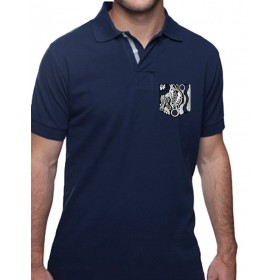Men's polo-shirt with breast pocket