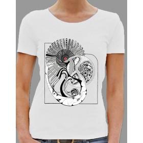 """Damen T-Shirt """"Musterwelt"""" in weiss"""