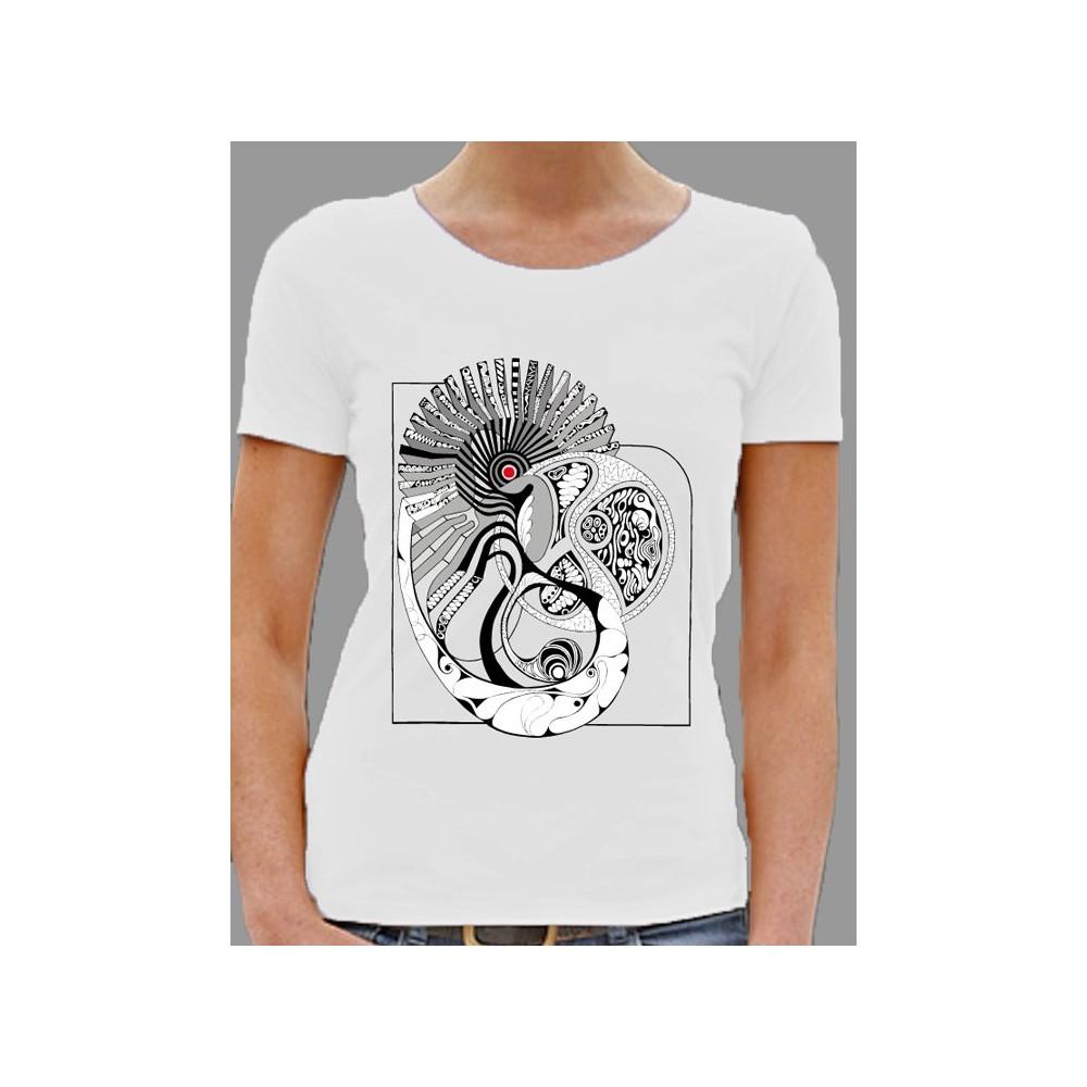 """Damen Damen T-Shirt """"Musterwelt"""" in weiss"""