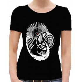 "women Lady's t-shirt ""patternworld"" in black and white"