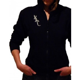 Comfortable Hooded Jacket with Gecko