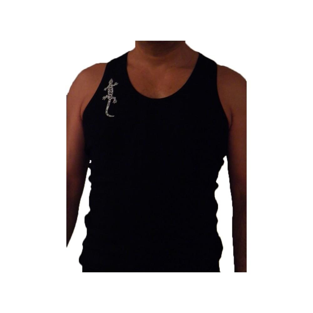 T-Shirts kurzarm Herren Boxer-Shirt mit Gecko