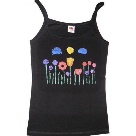 Träger-Shirt mit Blumenwiese
