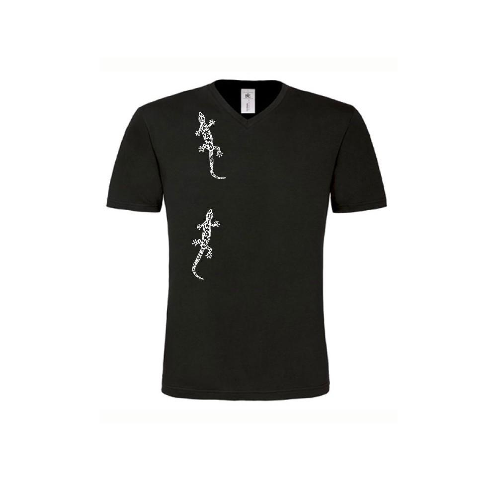 T-Shirts & Sweatshirts Herren Shirt kurzarm mit Geckos