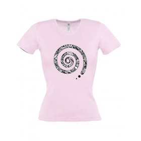 Damen T-Shirt Spirale
