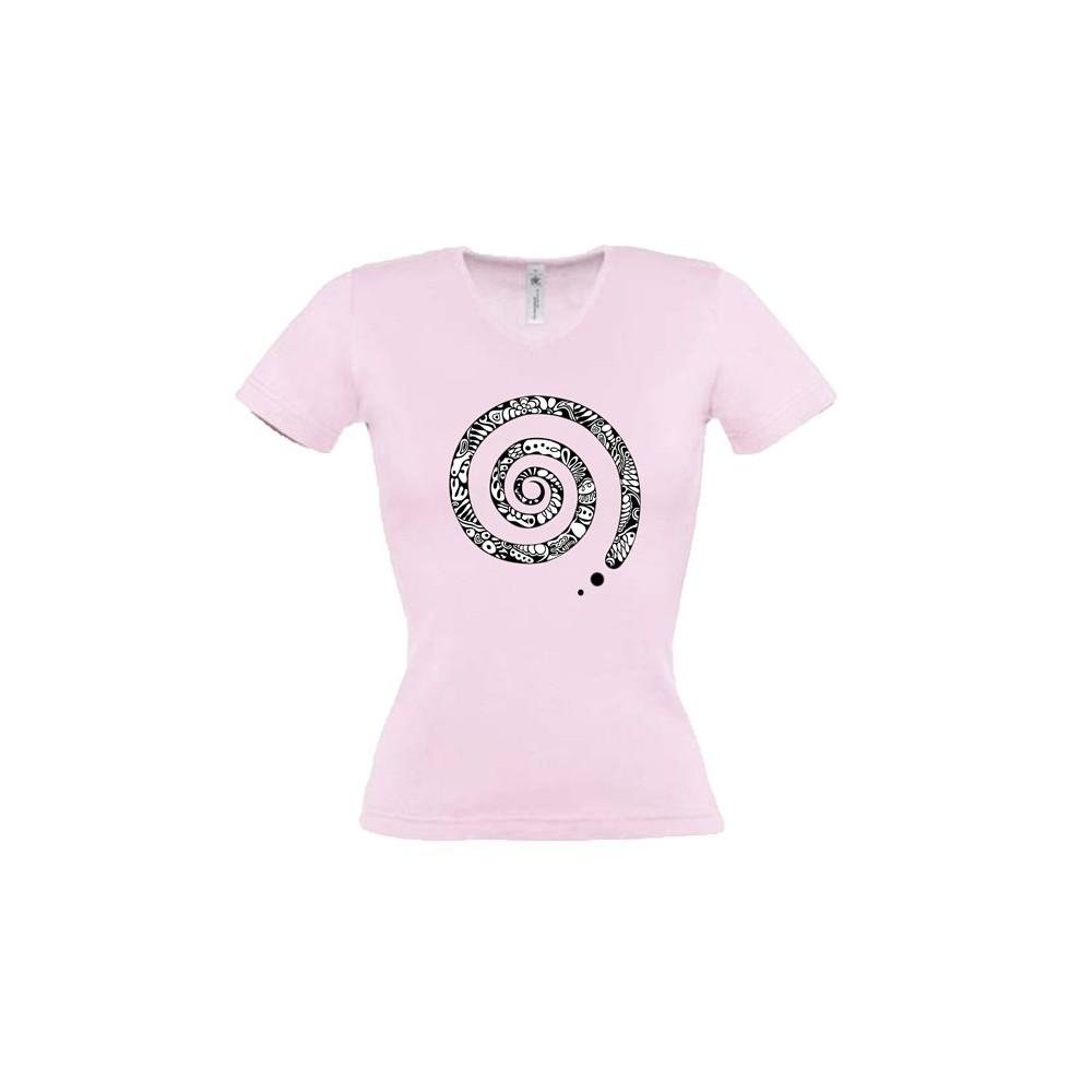Damen Damen T-Shirt Spirale
