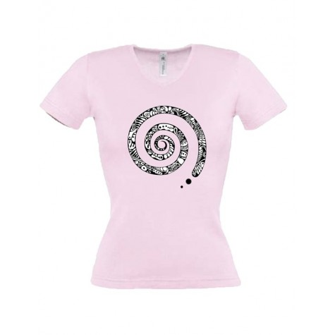 Lady's t-shirt spiral