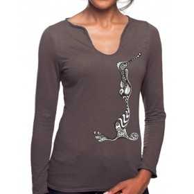 "Damen Damen-Longshirt ""Illustration"""