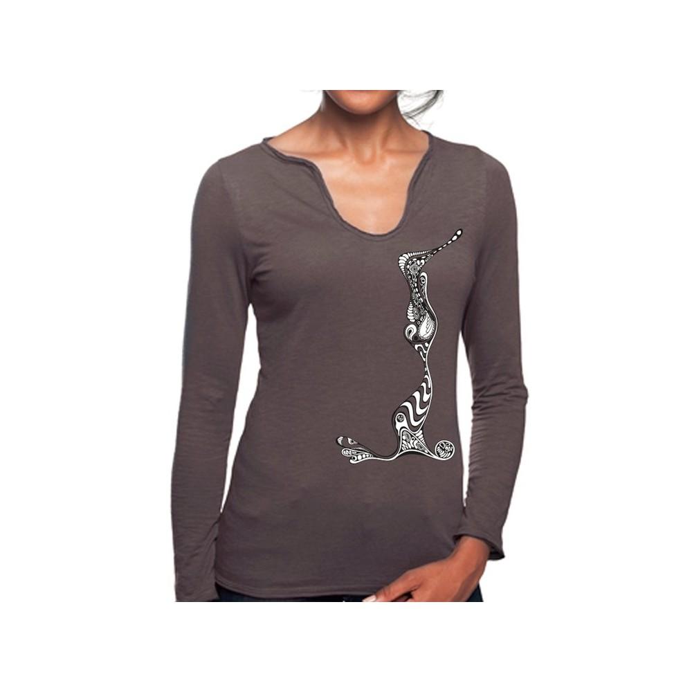 "women longshirt with ""illustration"""