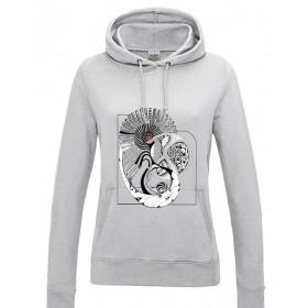 Schwarz & Weiss Damen Sweatshirt - Musterwelt