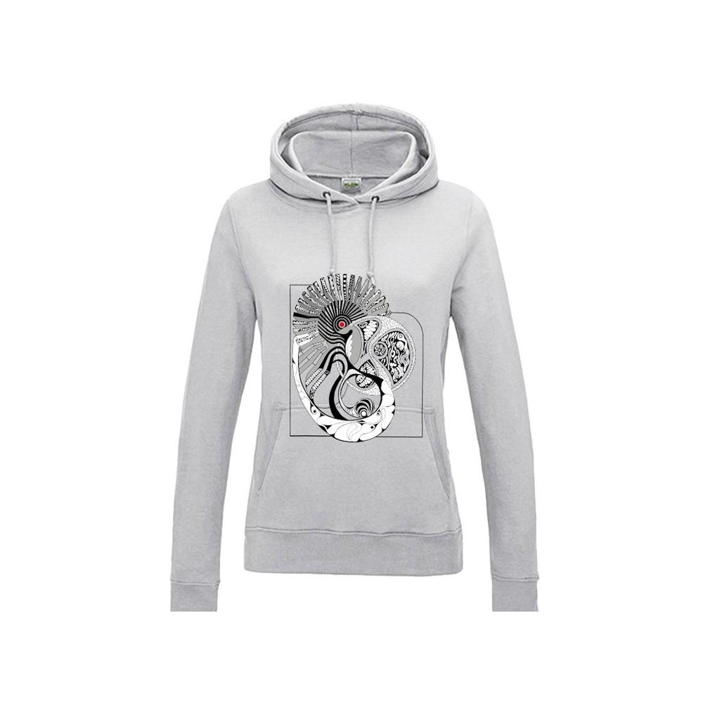 black & white Lady sweatshirt - patternworld
