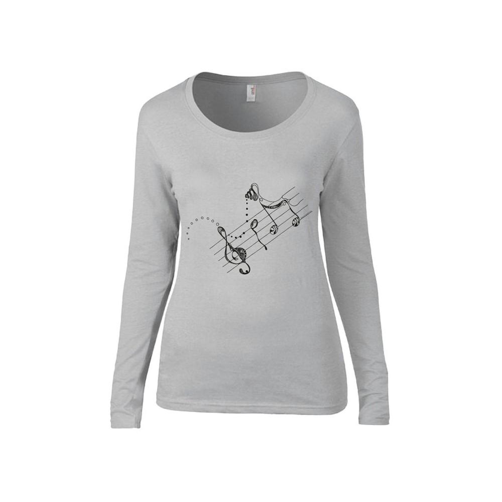 T-Shirts & Sweatshirts Damen Langarmshirt - Melodie grau