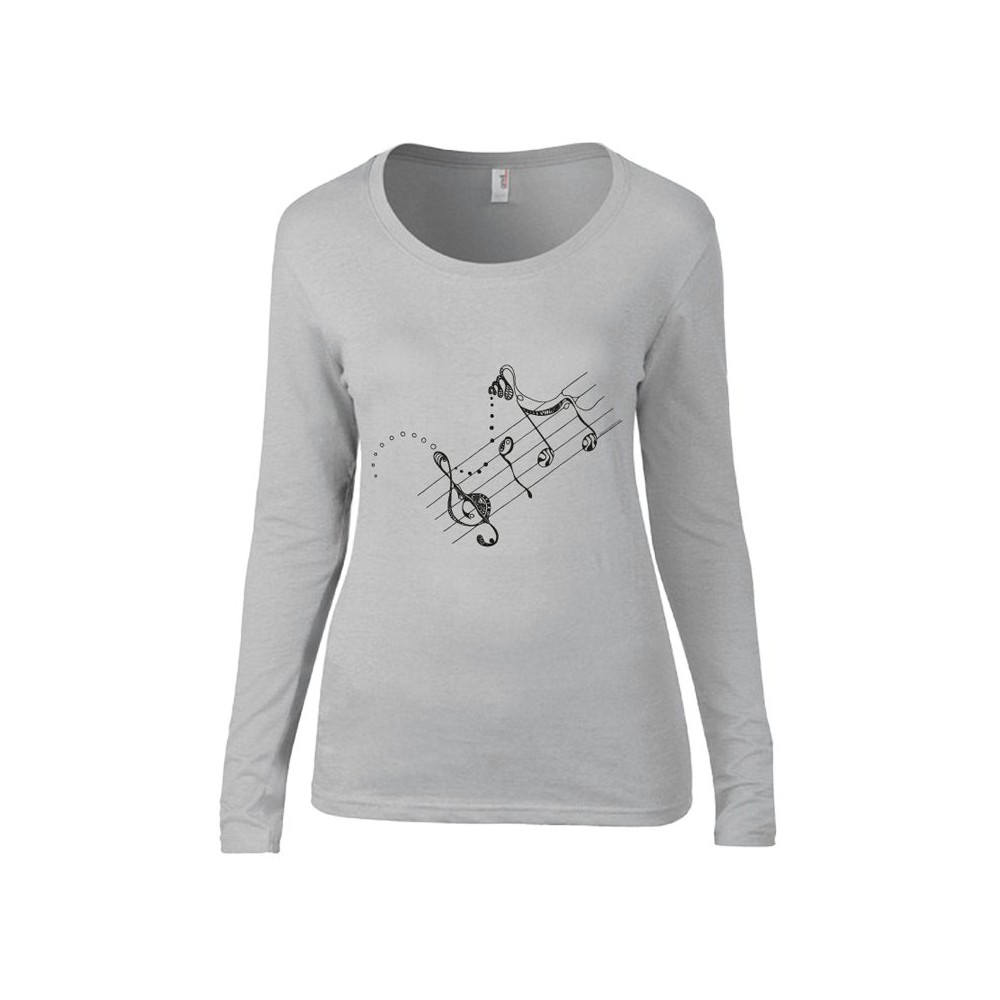 t-shirts & sweatshirts Lady Long sleeve - extralong! with melodie