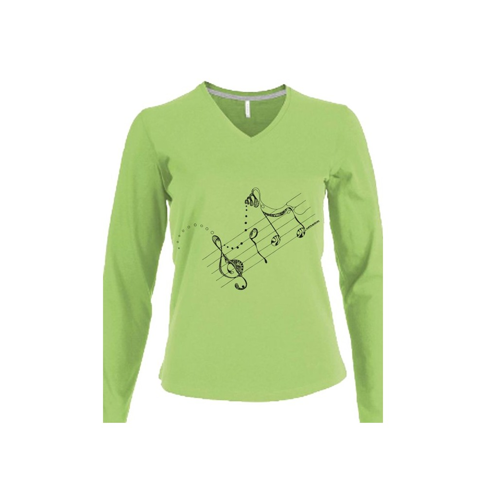 t-shirts & sweatshirts Lady Long sleeve - extralong!- melodie