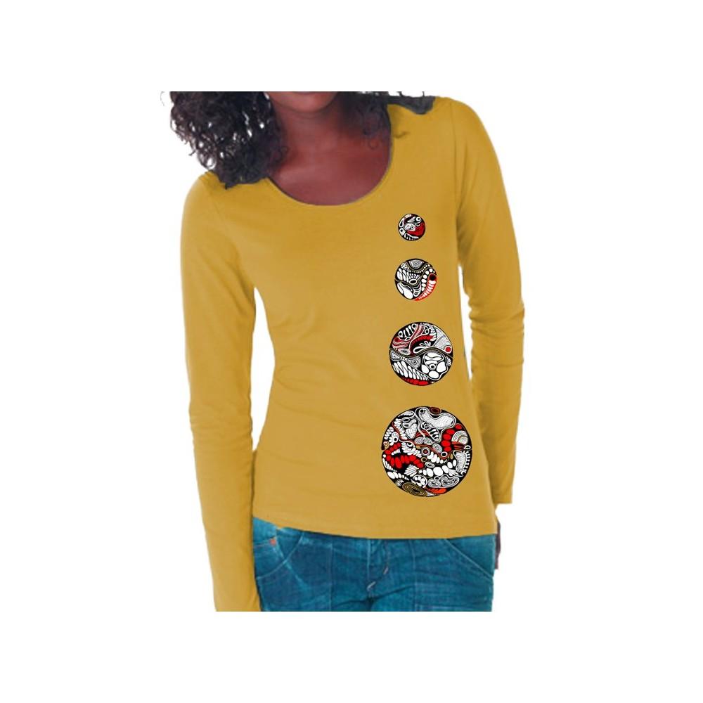 Damen Langarm-Shirt 4 Kreise