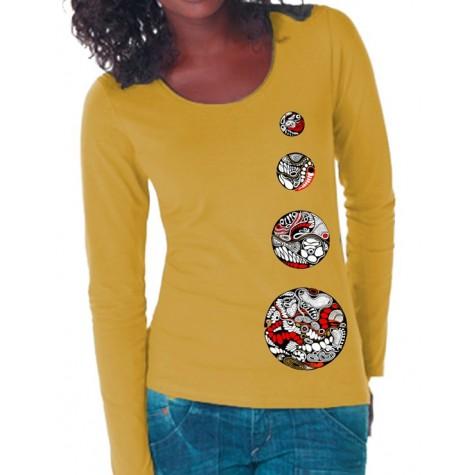 Lady's shirt longsleeve 4 circles