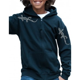 t-shirts & sweatshirts sweatshirt for girls & boys with metallic geckos