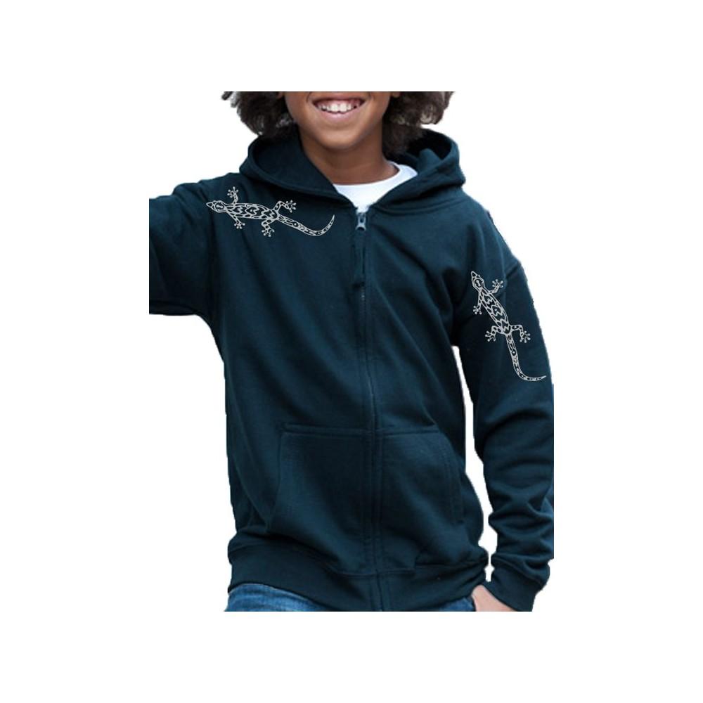 T-Shirts & Sweatshirts Mädchen & Buben Sweatshirt mit Geckos