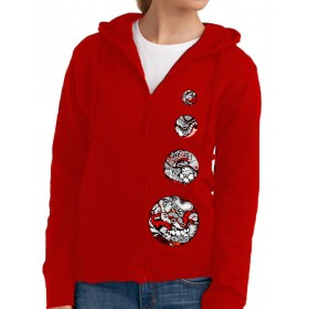 """Sweaters Lady's hooded Jacket """"4 circles"""""""
