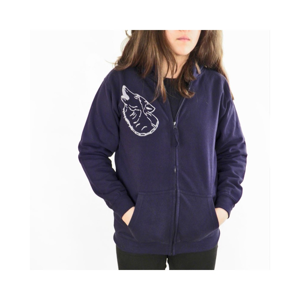 t-shirts & sweatshirts Hoodie jacket with animal print Wolf