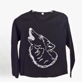 t-shirts & sweatshirts Fashionable Girls T-Shirt with Wolf
