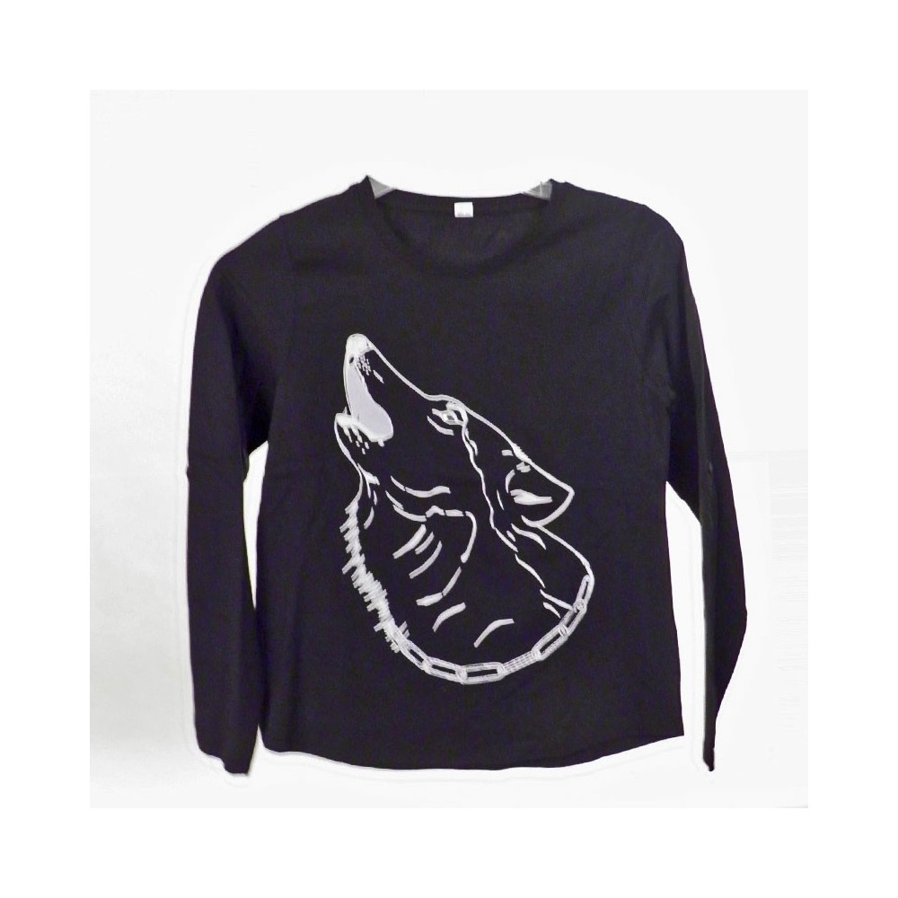 t-shirts & sweatshirts Fashionable Girls T-Shirt with Wolf