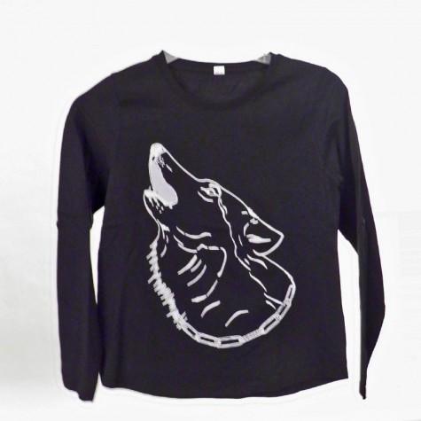 T-Shirts & Sweatshirts Modernes Mädechen Shirt mit Wolf