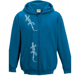 Sweatjacket with gecko print