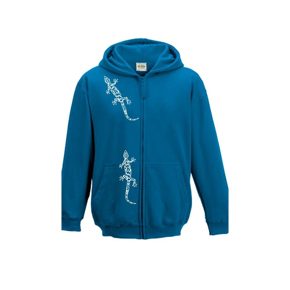 T-Shirts & Sweatshirts Sweatjacke mit Gecko-Print