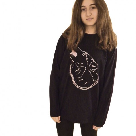 Kids T-Shirt with Wolf