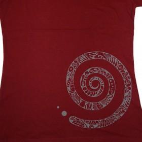 T-Shirts & Sweatshirts Damen T-Shirt Spirale rot in S