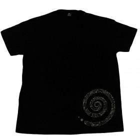 Herren T-Shirt mit Rund-Ausschnitt und Spiral-Print, Unikat in XL