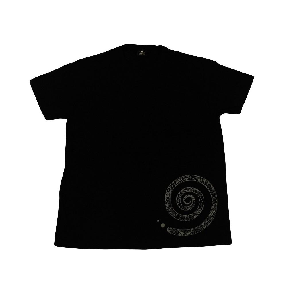 T-Shirts kurzarm Herren T-Shirt mit Rund-Ausschnitt und Spiral-Print, Unikat in XL