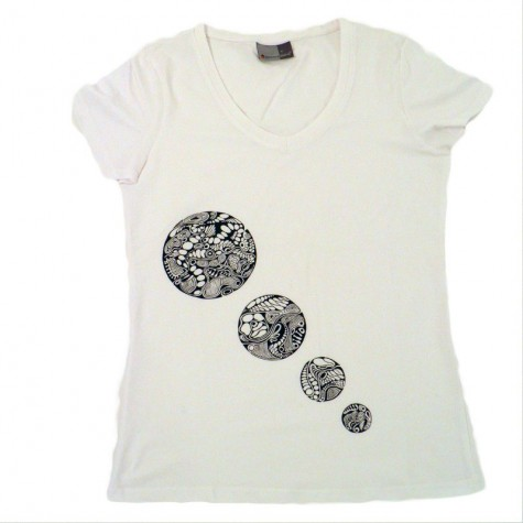 Women's T-Shirt 4 circles, unique in M