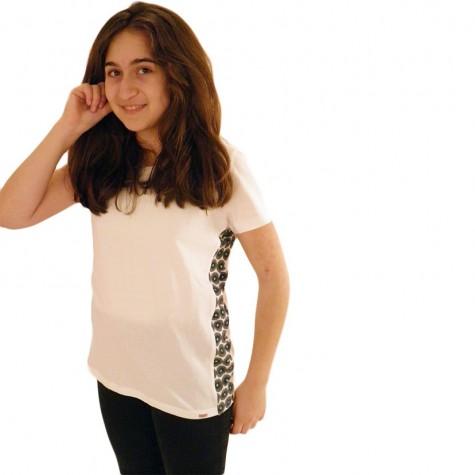 Modisches Damen T-Shirt in weiss
