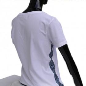 T-Shirts & Sweatshirts Modisches weißes Damen T-Shirt mit V-Ausschnitt