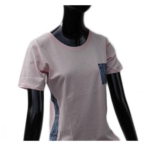 Extravagant ladies shirt in pink pastel tone