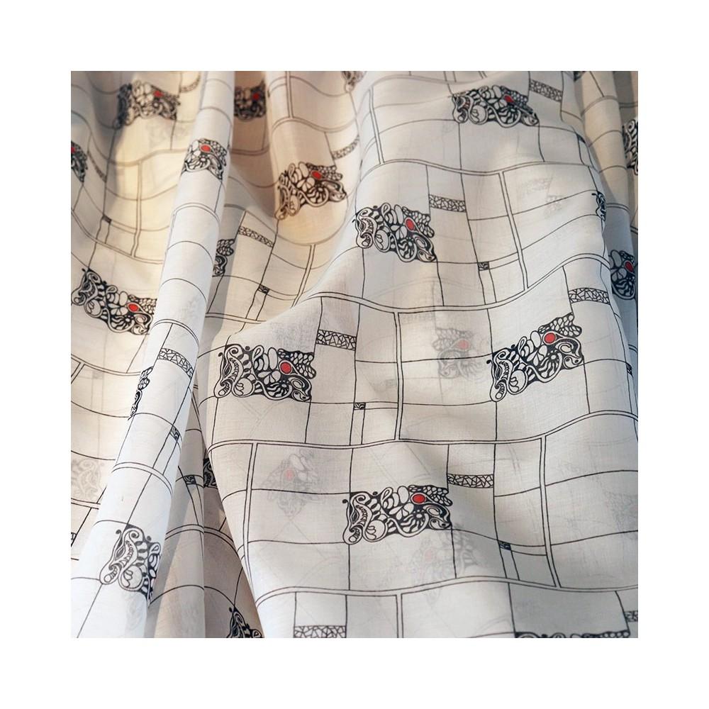 fabric Fabric Popelin POPLEICHT white