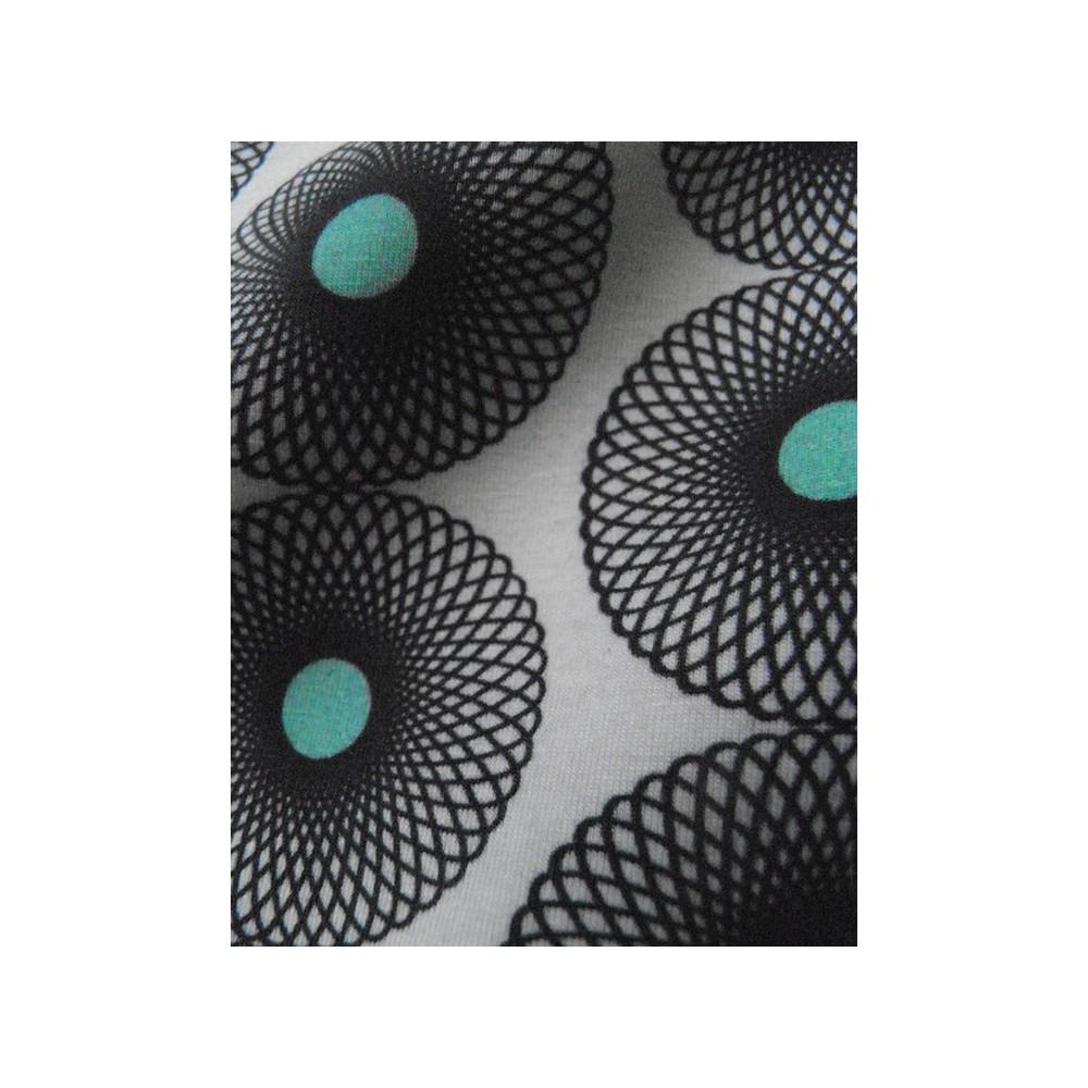 Stoffe Stoff Jersey T-SHIRT I - Spiralblume gross