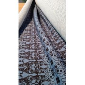 Stoff Jersey T-SHIRT I - Musterband blau
