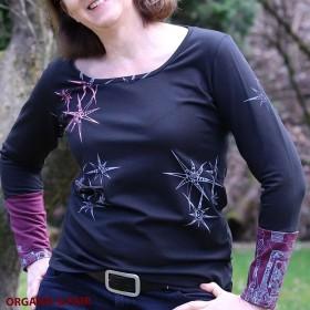 Damen Bio Langarm-Shirt bedruckt classic L