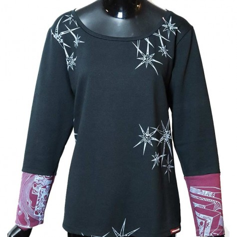 Damen Genähtes Langarm-Shirt classic XL