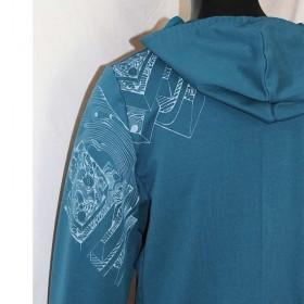 Biosweater|Jacke|UNIKAT|XL|Siebdruck|nachhaltig
