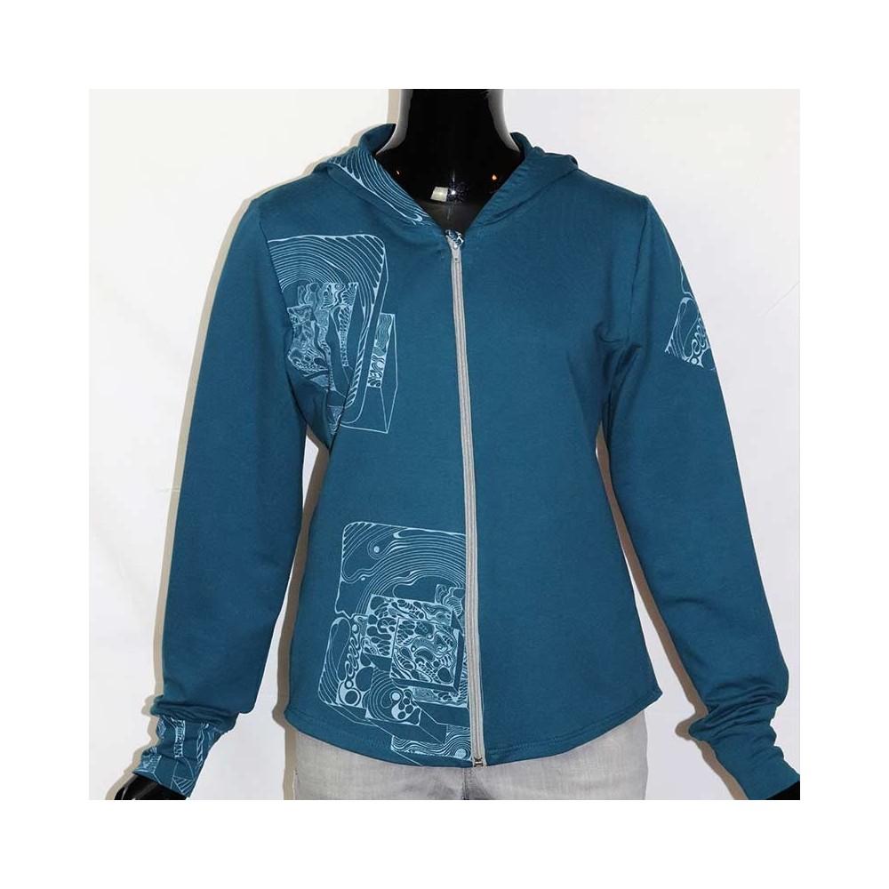 Sweater|Jacke|UNIKAT|XL|Siebdruck|musterwerkstatt