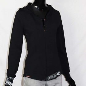 Sweaterjacket with printed DESIGN M