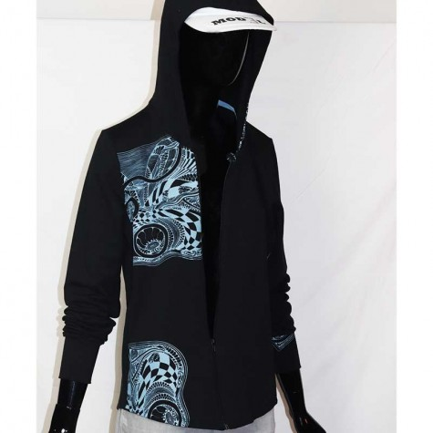 Organic Sweaterjacket with DESIGN XXL